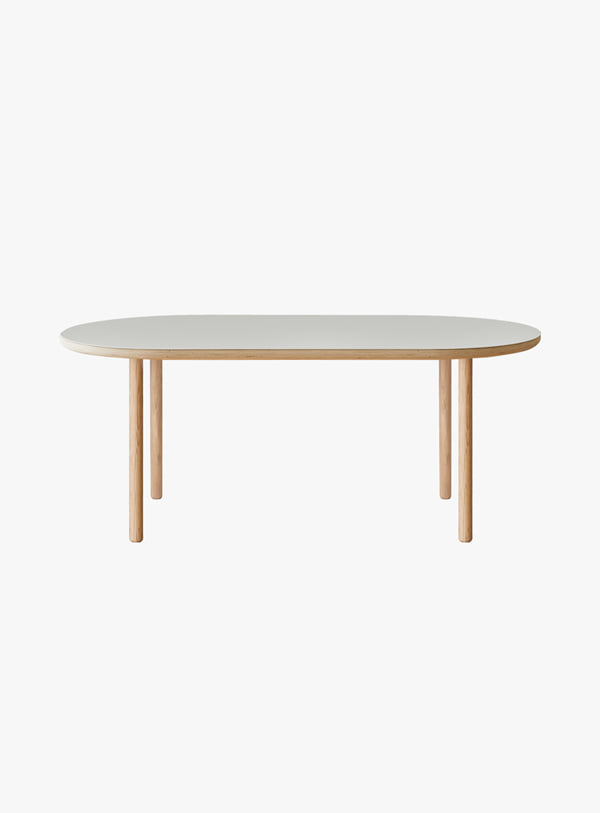오블리크테이블 - Cylinder Oval Low Table 1000