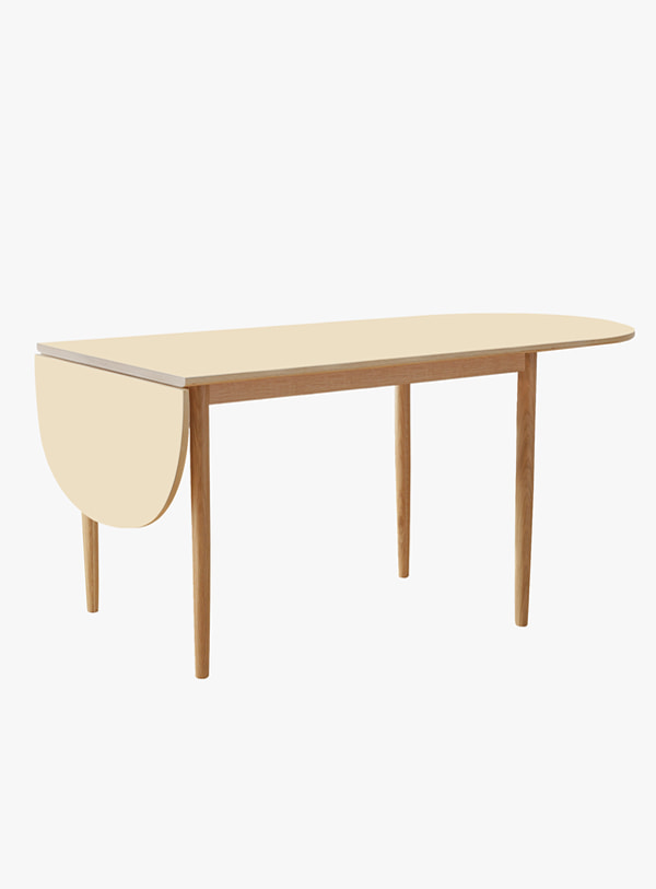 오블리크테이블 - Stick Oval Half Folding Table