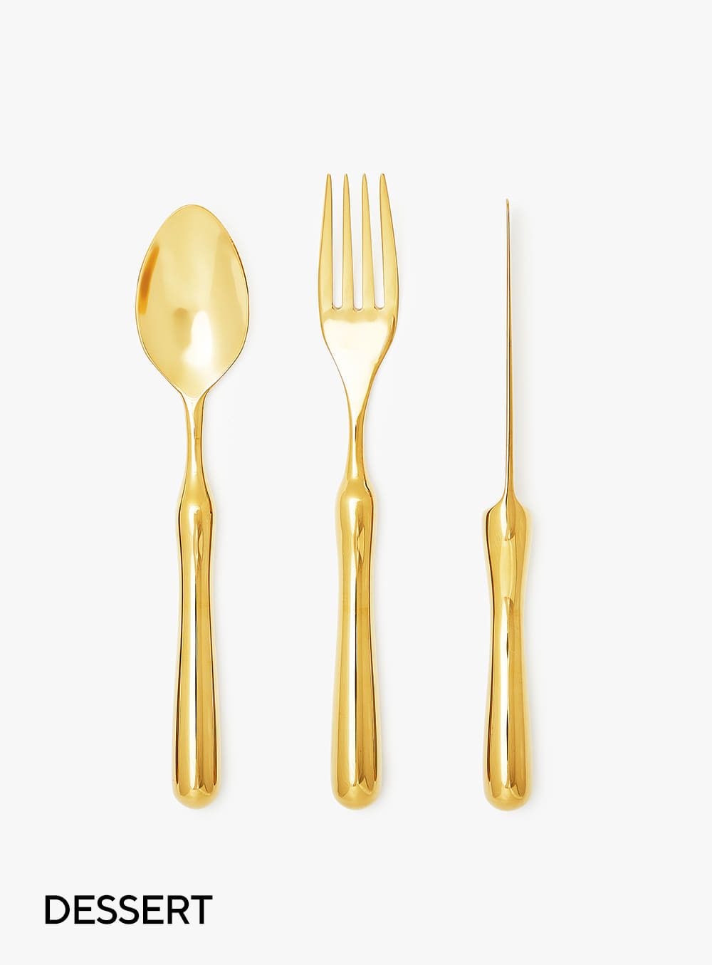 호랑 - Dessert Size Cutlery Set Gold Edition